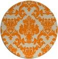 rug #515397 | round orange traditional rug