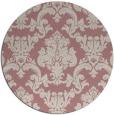 rug #515421 | round pink damask rug