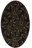 rug #516157 | oval mid-brown natural rug