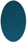 rug #516217   oval blue popular rug