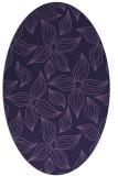 rug #516233 | oval purple rug