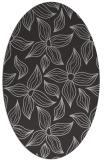 rug #516337 | oval red-orange rug