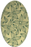 rug #516341 | oval yellow natural rug