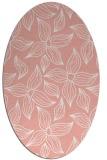 rug #516357   oval pink rug