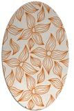 rug #516405   oval red-orange rug