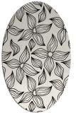 rug #516409 | oval white natural rug