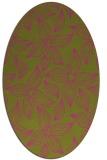 rug #516465 | oval pink natural rug