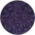rug #516937 | round purple rug