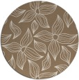 rug #516993 | round mid-brown natural rug