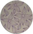 rug #517021 | round beige natural rug