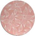 rug #517061 | round pink rug