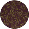 rug #517069 | round purple natural rug