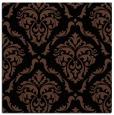 rug #517561 | square black damask rug