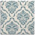 rug #517569 | square blue-green damask rug