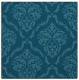 rug #517593 | square blue-green damask rug