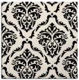 rug #517621 | square blue-green damask rug