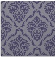 rug #517633 | square blue-violet damask rug