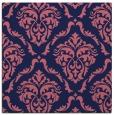rug #517637   square blue-violet damask rug