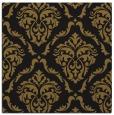 rug #517661 | square black damask rug