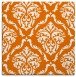 rug #517737 | square orange damask rug