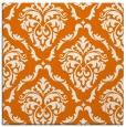 rug #517737 | square orange damask rug