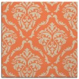 rug #517741 | square orange damask rug
