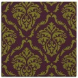 rug #517773 | square purple damask rug