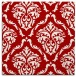 rug #517785 | square red traditional rug