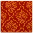 rug #517789 | square orange damask rug