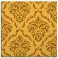 rug #517849   square yellow damask rug