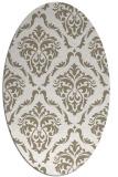 rug #517897 | oval white traditional rug