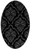 rug #517905   oval black rug
