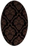 rug #517913 | oval black traditional rug