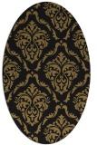 rug #517917 | oval black traditional rug