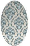 rug #517921 | oval white damask rug