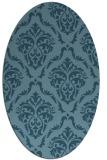 rug #517924 | oval damask rug