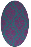 rug #517961   oval pink damask rug