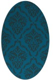 rug #517977 | oval blue traditional rug