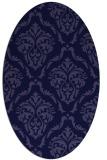 rug #517981   oval blue-violet traditional rug