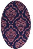 rug #517989 | oval blue-violet traditional rug