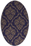 rug #518005 | oval beige traditional rug