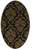 rug #518013 | oval black traditional rug
