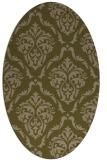 rug #518017   oval brown damask rug