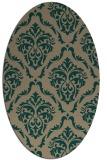 rug #518020 | oval traditional rug