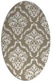 rug #518037 | oval white damask rug