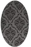 rug #518048 | oval damask rug