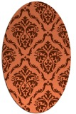 rug #518097 | oval orange damask rug