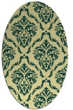 rug #518101 | oval yellow traditional rug