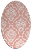 rug #518117 | oval white traditional rug