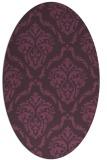 rug #518121 | oval purple damask rug